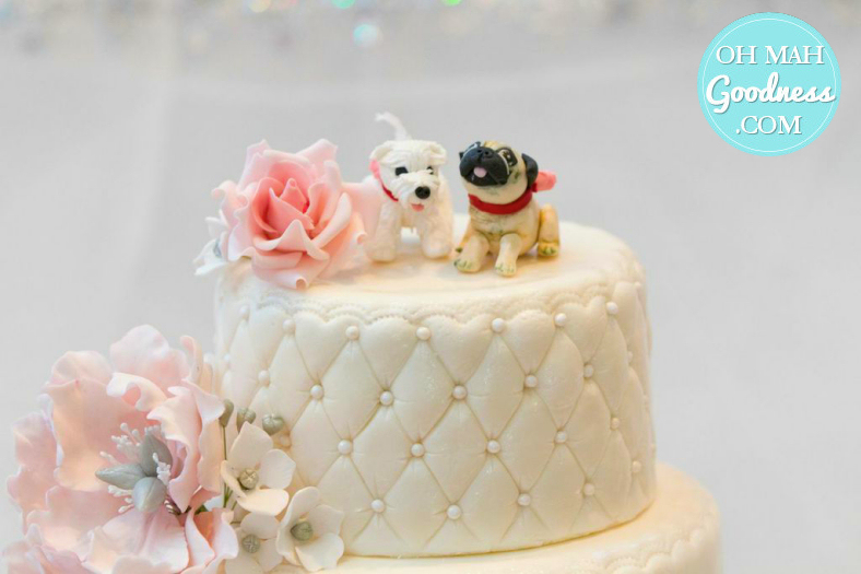 Puppy love wedding cake: Toronto custom cake, Toronto wedding cake