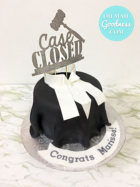 Toronto graduation cake, Toronto custom cake, Lawyer cake
