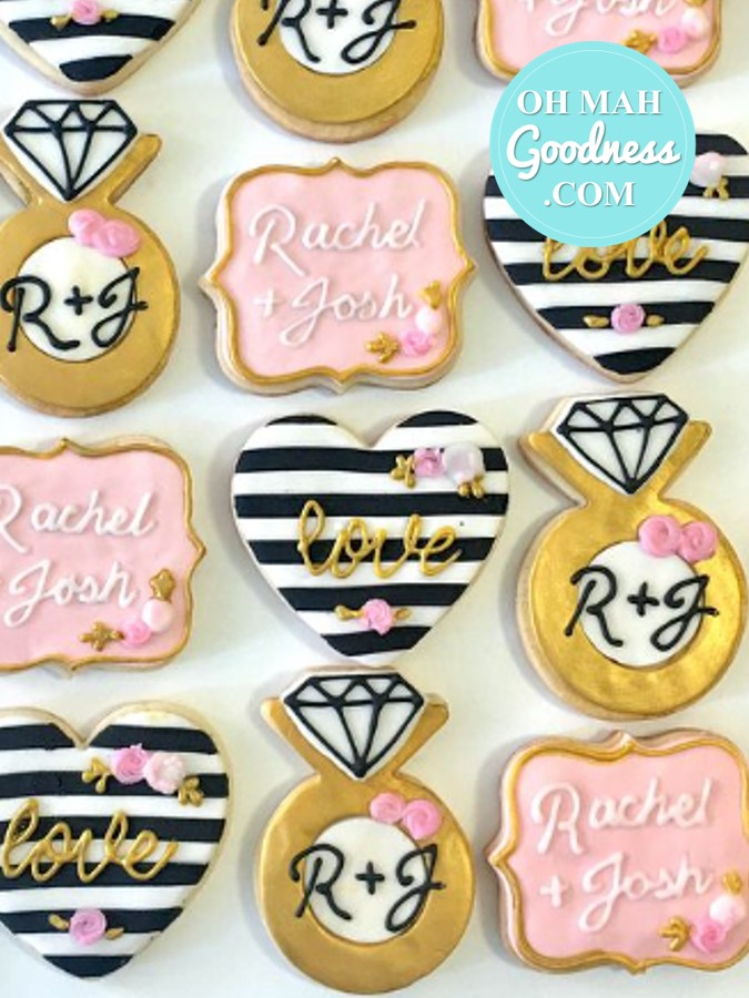 Engagement party cookies
